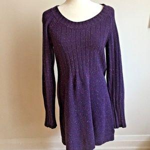 See by Chloe designer sweater dress purple sz 6
